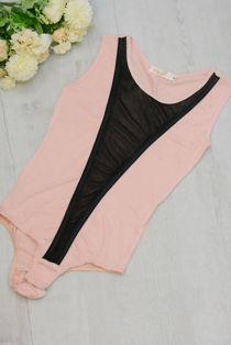 Dusty Mesh Sleeveless Bodysuit