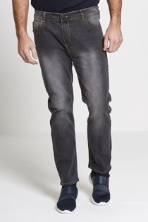 Faded Grey Wide Leg Baggy Jeans
