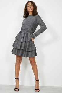 Frill Knotted Gleam Dress
