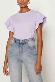 Frill Sleeve T-Shirt