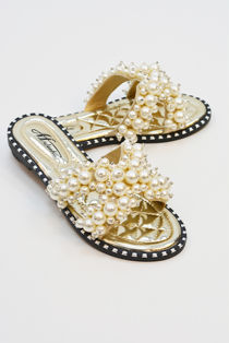 Gold Pearl Sandals