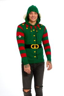 Green Elf Body Christmas Jumper