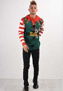 Dual Design Elf & Santa Christmas Jumper