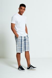 Grey Classic Plaid Shorts