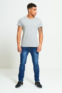 Grey Basic Loose Fit T-Shirt