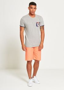Grey Face Pocket T-Shirt