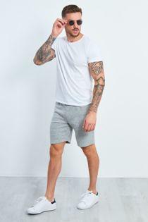 Grey Marl Zipped Pocket Jogging Shorts