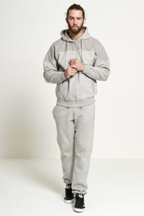 Grey Mesh Shoulder Panel Tracksuit