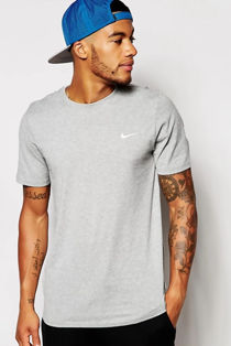 Grey Nike T-Shirt With Embroidered Swoosh