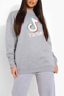 Grey Tik Tok Sweatshirt