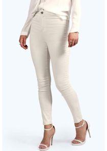 High Rise Skinny Tube White Jeans