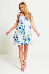 Blue Floral Print Cami Skater
