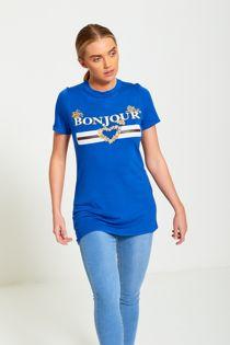 Plus Size Royal Bonjour Love T-Shirt