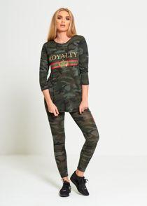 Camo Royalty Slogan Loungewear