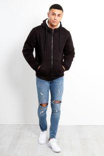 Denim Distressed Skinny Fit Jeans