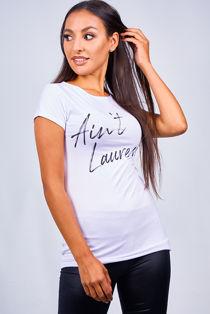 White Saint Laurent Tee Top