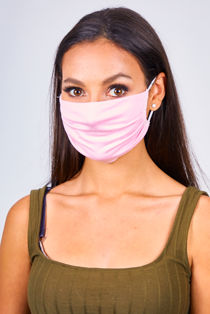 Pink Viscose Face Mask