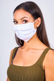White Viscose Face Mask