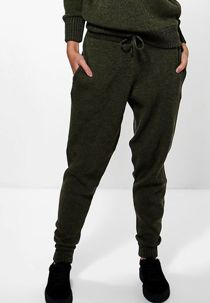 Khaki Fine Knitted Loungewear Bottom