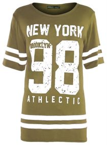 Khaki New York 98 Oversize T-Shirt
