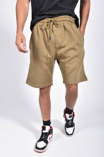 Khaki Basic Jogger Shorts