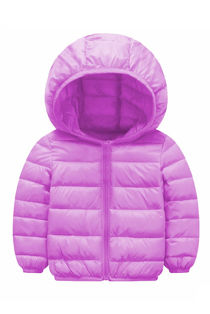 Kids Lilac Hooded Puffer Jacket