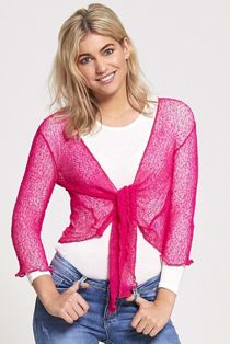 Knotted Tie-Up Shrug