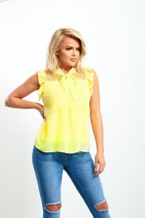 Lace Frill Bow Top