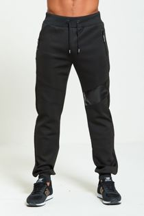 Leather Panel Skinny Fit Jogging Bottom