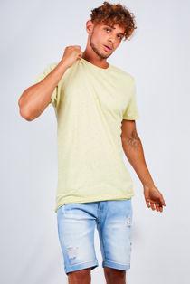 Lemon Contrast Nepp Crew Neck T-shirt