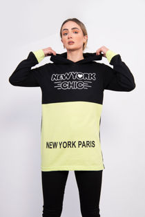 Lime New York Chic Hooded Sweatshirt