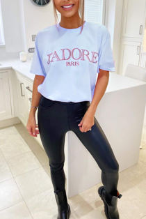 Light Blue Jadore Oversized Tee