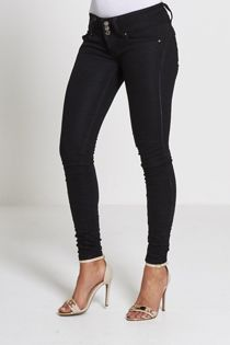Maddy Mid Rise Black Skinny Jeans