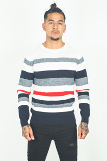 Mens Crew Neck Stripped Jumper