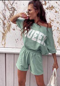 Mint Queen Lounge Wear Short Set