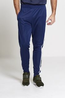Navy Athleisure White Striped Jogging Bottoms