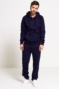 Navy Basic Pullover Hood Tracksuit