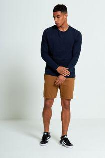 Navy Crew Neck Long Sleeve T-Shirt