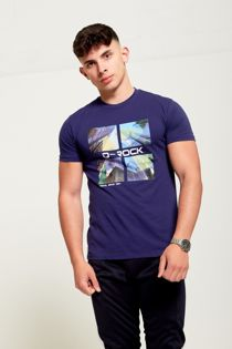Navy D-Rock Customized T-shirt
