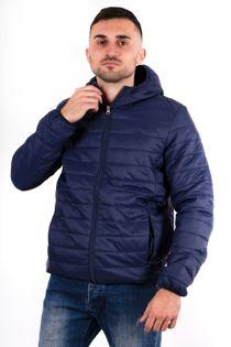 Navy Lightweight Puffer Rain Jacket