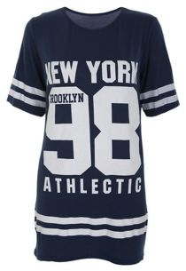 Navy New York 98 Oversize T-Shirt