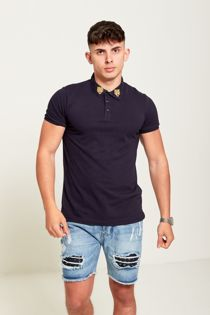 Navy Tiger Patch Polo T-Shirt