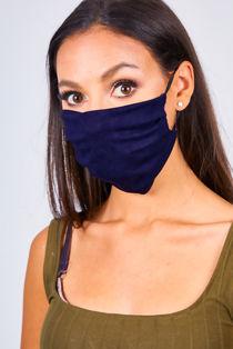 Navy Viscose Face Mask