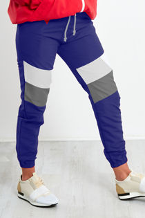 Navy With White and Grey Panel Trouser