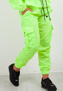 Neon Lime Cargo Style Trouser