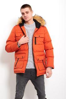 Orange Everest Windbreaker Parka