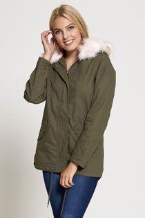 Pink Fur Hood Brave Soul Parka Jacket