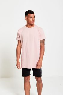 Pink Longline Basic Block T-Shirt