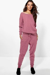 Pink Lounge Wear Knitted Set Preorder