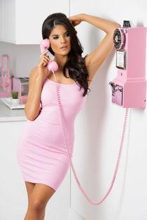 Pink Soft Jersey Mini Bodycon Dress